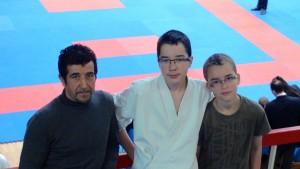 De gauche à droite: Biagio COSTA, Marc et Gabriel LE VAILLANT